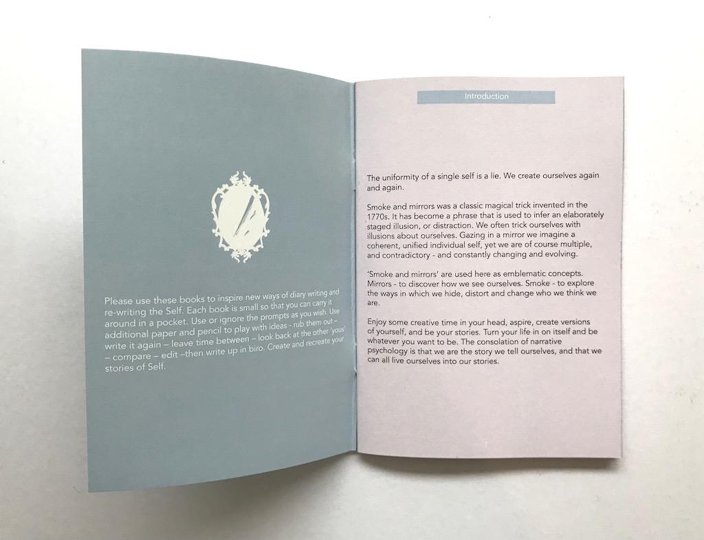 display inside mental health diaries